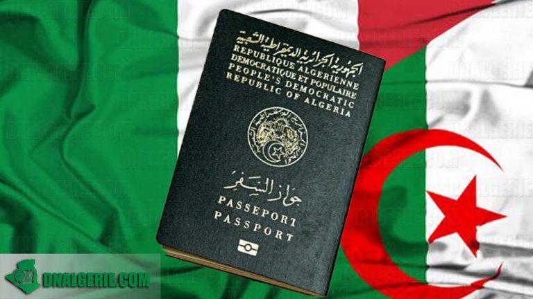 Visas Italie pour les algériens : une nouvelle procédure mise en place